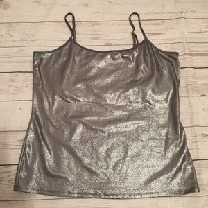 WHBM Metallic Silver Cami